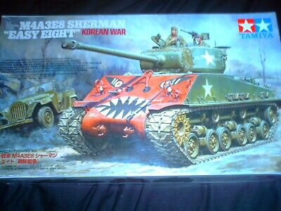 Tamiya 1/35 Scale  Us Medium Tank M4a3e8 Sherman Easy Eight Korean War 35359 • 19.99£