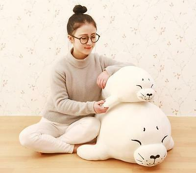Plush Doll Huge Seal Pillow Xmas Gift Large Soft Stuffed Cartoon Cute Animal Toy • 32.78£