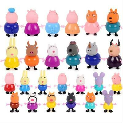25 Pcs Peppa Pig Family&Friends Emily Rebecca Suzy Action Figures Toys Xmas Gift • 10.79£