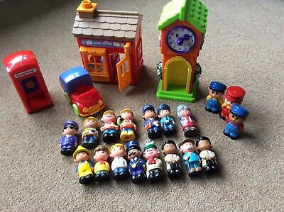 Happy Land Toys And Figures Bundle Post Office Clock Tower With Sounds • 4£