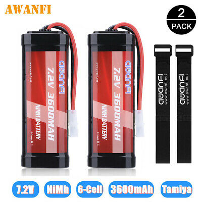 2x 3600mAh 7.2V NiMh Rechargeable Battery Pack For Tamiya RC Car Truck Boat Quad • 29.99£