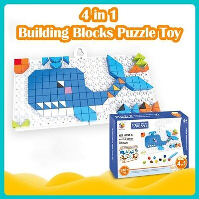 4 In 1 Bricks Puzzle Toy Building Blocks For Baby Educational Toys CI • 9.59£