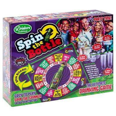 Spin The Bottle Adult Drinking Shot Party Board Game Stag Do Fun Kit Set Gift • 9.99£