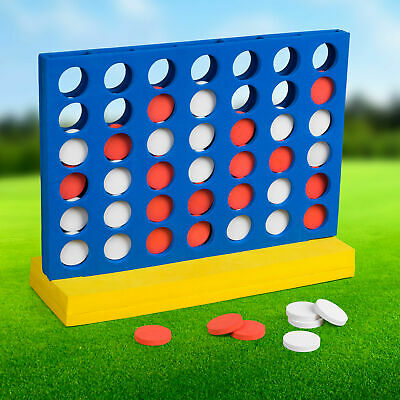Giant Connect 4 In A Row Jumbo Foam Garden Game Outdoor Party Four-In-A-Row • 9.99£