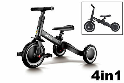 4in1 Childs BALANCE BIKE / TRIKE Converts Black - Toolless Conversion 1-5 Years • 39.95£