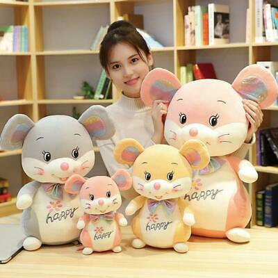 Plush Mouse Toy Stuffed Soft Animal Mouse Rat Doll Pillow Kawaii Birthday Gifts • 28.88£