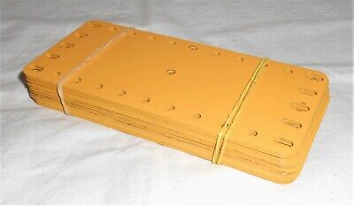 MECCANO ENGLISH YELLOW No.192 METAL FLEXIBLE PLATES 5.5  X 2.5  LOT OF 50pcs • 28£