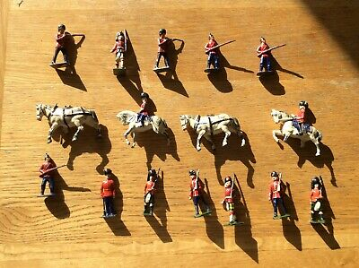 Lead Soldiers With Horses Slight Defects And Damages • 5£