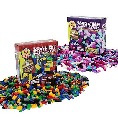 1,000 Piece Building Bricks Blocks Boys Girls Construction Play Toys Compatible • 21.99£