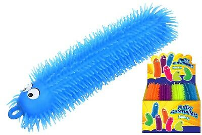 32cm Medium Puffer Caterpillar Toy Stretchy Puff Squeeze Sensory Stress Big Long • 2.99£