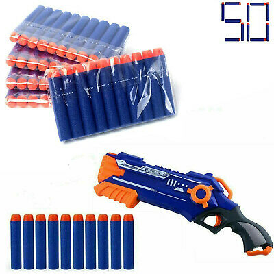 100pcs Gun Soft Refill Bullets Toy Darts Round Head Blasters For Nerf N-strike  • 4.99£