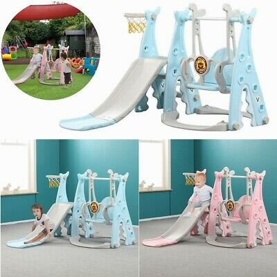 Toddler Slide Swing Set Climb Basketball Hoop Kids Toy Indoor/Outdoor Playground • 65.59£