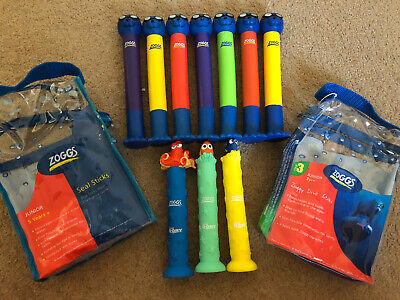 ZOGGS Dive Sticks Swimming Equipment  10 Bundle Inc Finding Nemo • 16£