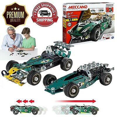 Meccano Rally Racer 1 Model Set With Electric Motor Cabriolet Kit 174 Pieces • 19.99£