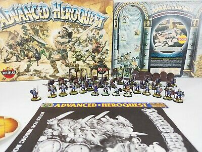 Advanced Heroquest Warhammer Board Game - Pro Painted 100% Complete [1989] • 399.95£