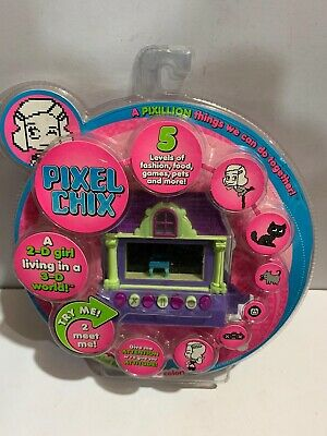 Rare Pixel Chix Mattel 2-D Girl Living In 3-D World Interactive Electronic Toy • 18£