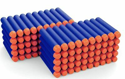 100pcs Soft Refill Bullets Darts Round Head Blasters For Nerf N-strike Toy Uk • 6.99£