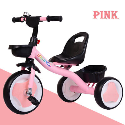 PINK Baby Kids Girls Trike Tricycle Toddlers Ride On 3 Wheels Pedal Bikes -Gifts • 26.99£