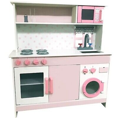 George Home Pink Wooden Kitchen Lot GD RRP 65.00 5057172155606 • 38.99£