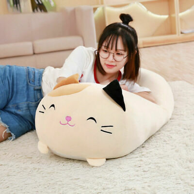 Plush Toy Cat Soft Squishy Chubby Cute Animal Cartoon Pillow Cushion Xmas Gifts • 6.99£