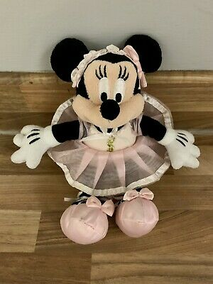 Disney Minnie Mouse Ballerina Soft Plush Toy - From Official Disneyland Paris • 4.99£