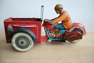 JML Delivery Motorcycle. Tin Toy, 1930s Pre War, Rare. • 650£
