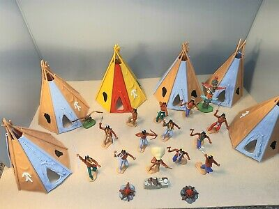 Timpo Toys Native American Indians War Camp In Very Good Condition  • 60£