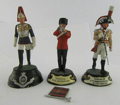 3 Charles Stadden Pewter Figures; 1st Warks, Royal Engineers, Blues & Royals • 19.99£