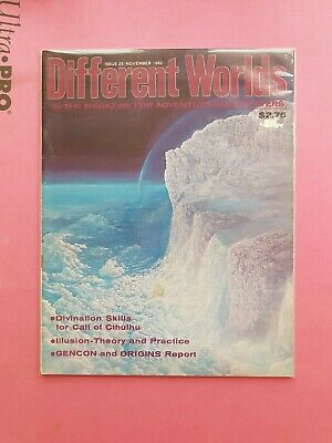 Different Worlds Magazine Issue 25 Nov 1982 - Chaosium Rpg Roleplaying Cthulhu • 22.50£