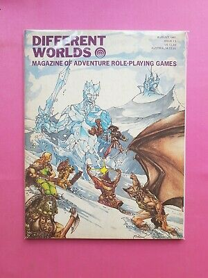 Different Worlds Magazine Issue 13 Aug 1981 - Chaosium Rpg Roleplaying Brp Osr • 22.50£