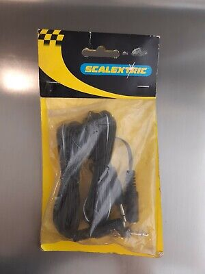 Scalextric C8008 Hand Throttle Extension Leads/Cables Jackplug Ends • 4.60£