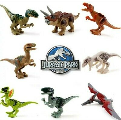 8X Jurassic Park World Dinosaur Minifigure Raptor Dinosaur Mini Figure • 12.99£