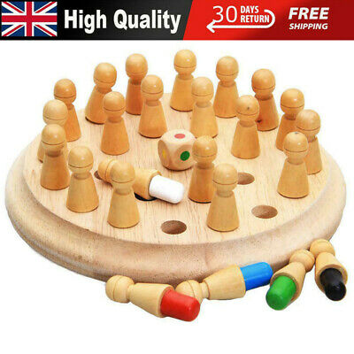 Kids Wooden Memory Match Stick Chess Game Puzzle Toy Training Fun Board Game Set • 11.80£