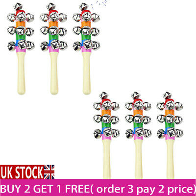 1-20X Christmas Hand Bells Jingle Instrument Musical Children Percussion Toy UK • 5.56£