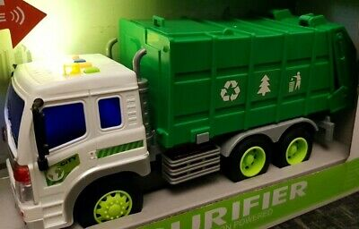 Friction Powered Large Garbage Truck Bin Toy Led & Sounds Boys Girls Toys 1:16 • 11.99£