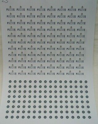 No 23  Strathclyde & Fife Constabulary Crests Clear Waterslide Decals For Code 3 • 3.50£
