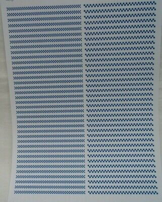 No 28   Blue & White Check Clear Waterslide Decals For Code 3 • 3.50£