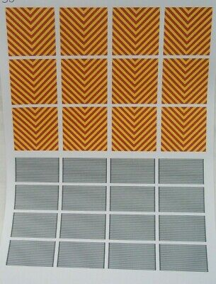 No 50  Red/Yellow Chevron Clear Waterslide Decals For Code 3 • 3.50£