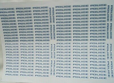 No 59  Police Blue & Silver  Clear Waterslide Decals For Code 3  • 3.50£