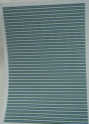 No 67  Blue & Green Stripes Clear Waterslide Decals For Code 3  • 3.50£