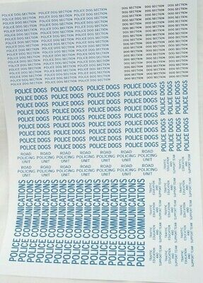 No 68  Various Police Units Wording Clear Waterslide Decals For Code 3  • 3.50£