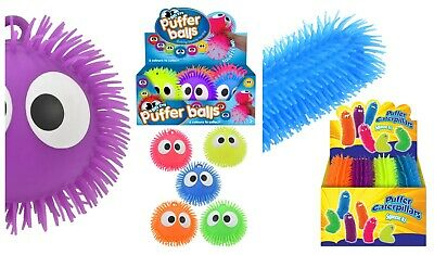 Large Puffer Caterpillar Ball Toy Stretchy Puff Squeeze Sensory Stress Big Long • 3.49£