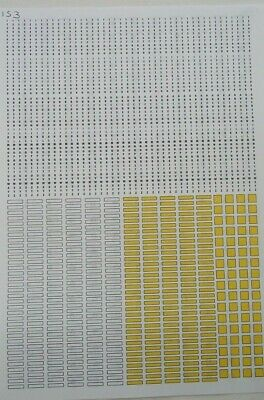 No 153   Make Your Own Number Plates Clear Waterslide Decals • 3.50£