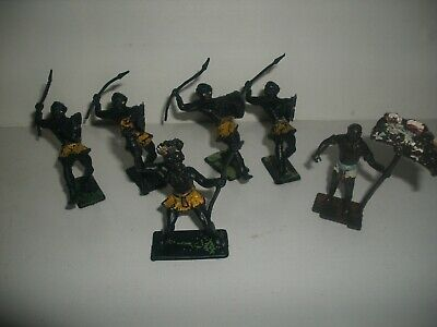 6 Cherilea Zulu African Warriors Vintage Job Lot • 9£