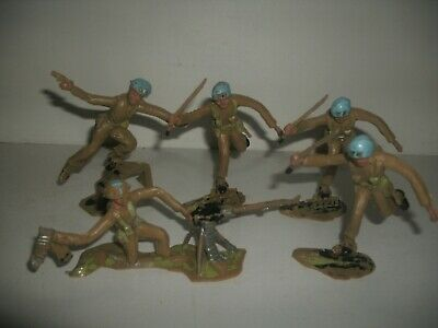 5 Cherilea UN Troops Vintage Job Lot • 15£