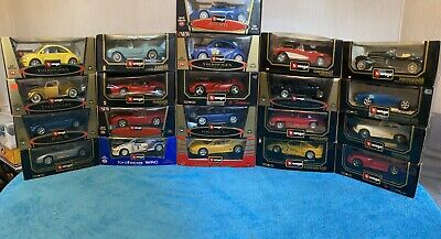 Job Lot Of 21 1/18 1:18 Scale Burago Bburago Model Die-cast Cars Collection Only • 149.69£