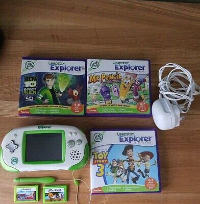 Leapster Explorer Hand Held Game Console With 6 Games And An E-book. Pre-owned.  • 16£