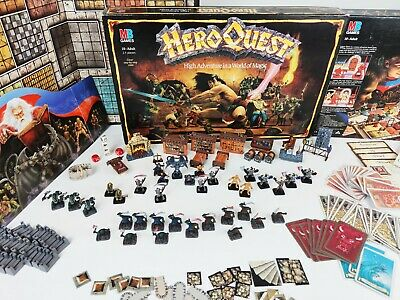 Heroquest Board Game - Pro Painted 100% Complete HERO QUEST +EXTRAS GW MB [1989] • 439.95£