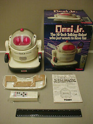 Vintage Tomy Omnibot ( Omni Jr ) Complete, Boxed, Fully Working: Super Condition • 150£