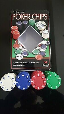 Cardinal Professional Poker Chips 100 Dual Toned Poker Chips • 1£